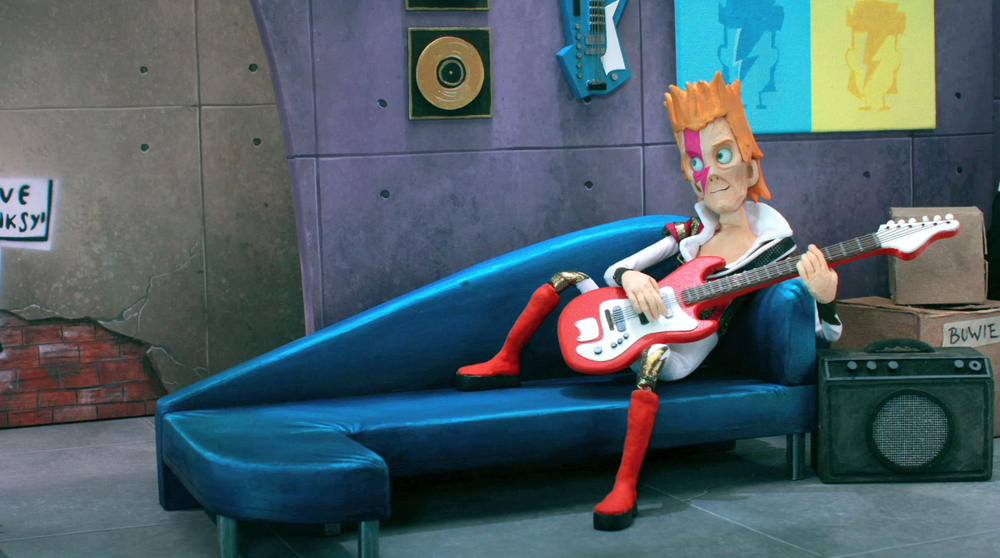 "David Bowie in ""Bless this Mess.""  Friendship Allstars of Friendship,  2013"