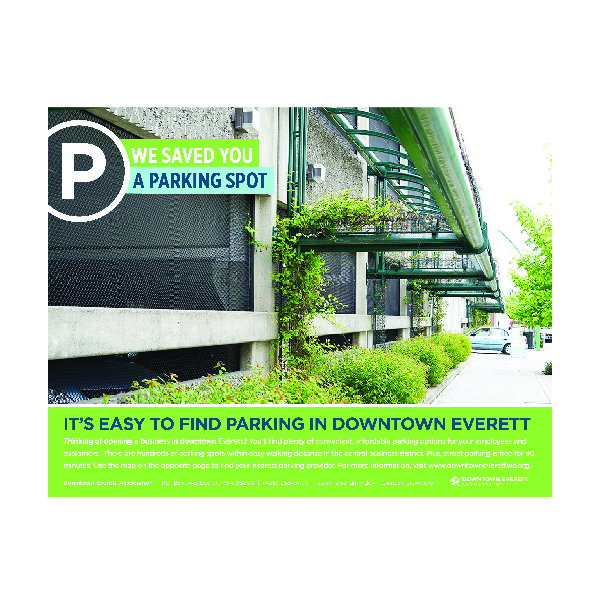 Downtown Parking Flyer