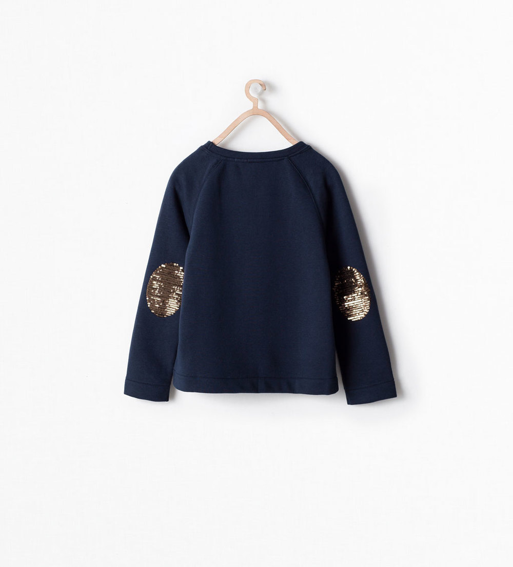 Sequin Morning Sweatshirt at Zara