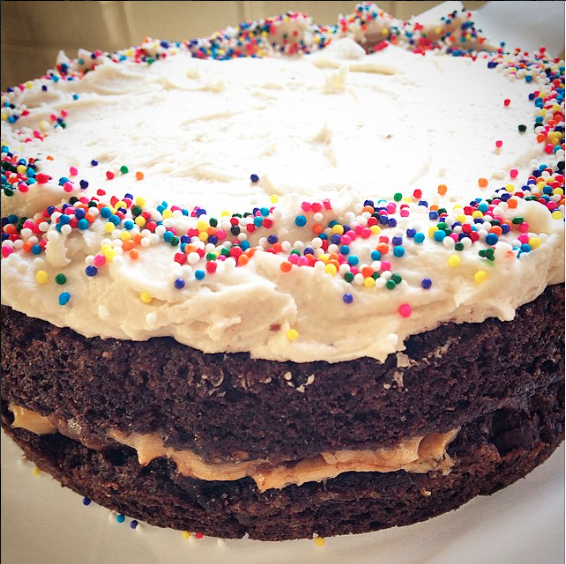 My Famous Chocolate ChocolateChip Smore Birthday cake made for the divine, Jessica Neuman.