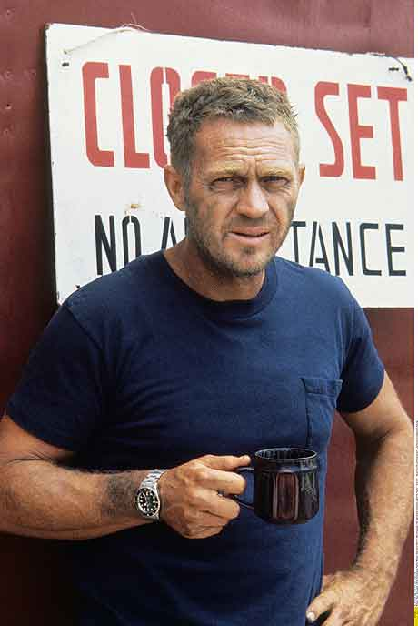 Steve McQueen in his Rolex Submariner- You're welcome.