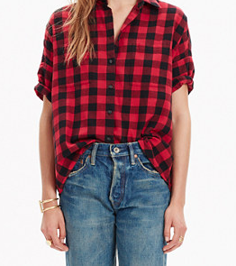 The famous and perfectly perfect   Madewell   Courier in buffalo plaid