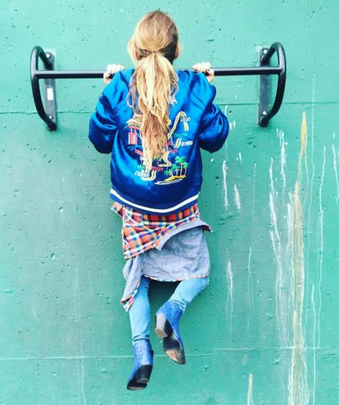 Our dream girl and fashion guru, Kelly Wearstler via her instagram in an amazing Sukajan