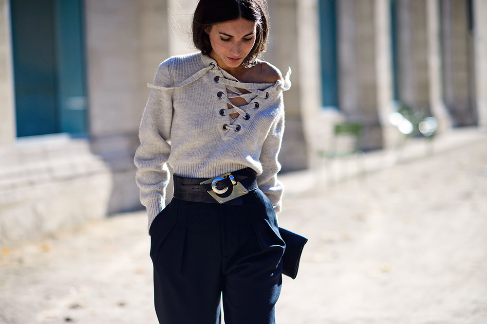 KILLING IT!  Love her style (Isabel Marant sweater)
