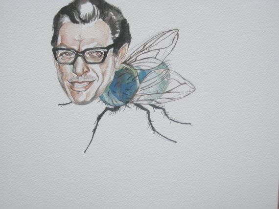 The Fly: watercolor by  SleepyBowie