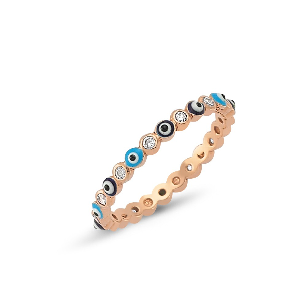 Stack this rose gold band in with your rings.  -