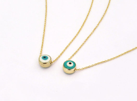 Protect your loved ones by gifting this tiny Evil eye by Jewlen Jule -