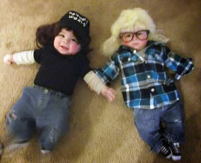 Baby Wayne & Garth! Swingggg!