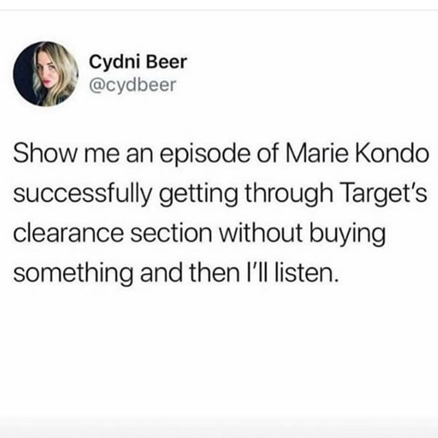 Exactly 🎯  We see your Tidy Joy and raise you the $1 section #mariekondo