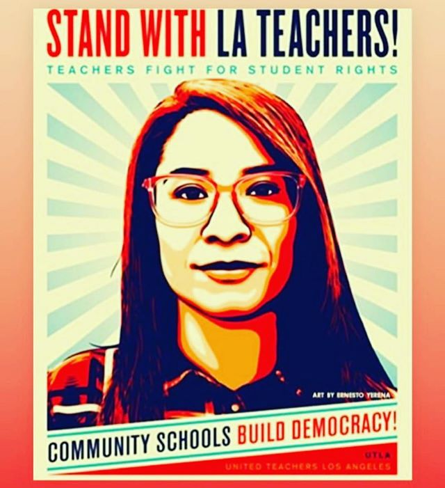Shout out to all the wonderful inspiring teachers in America ❤️ Many of whom we are lucky enough to call our friends and family. As kids we went to the public schools of Los Angels and as adults we support public education by sending our children to public schools. We proudly stand with the teachers of Los Angeles! 🍎 #utlastrong #utla