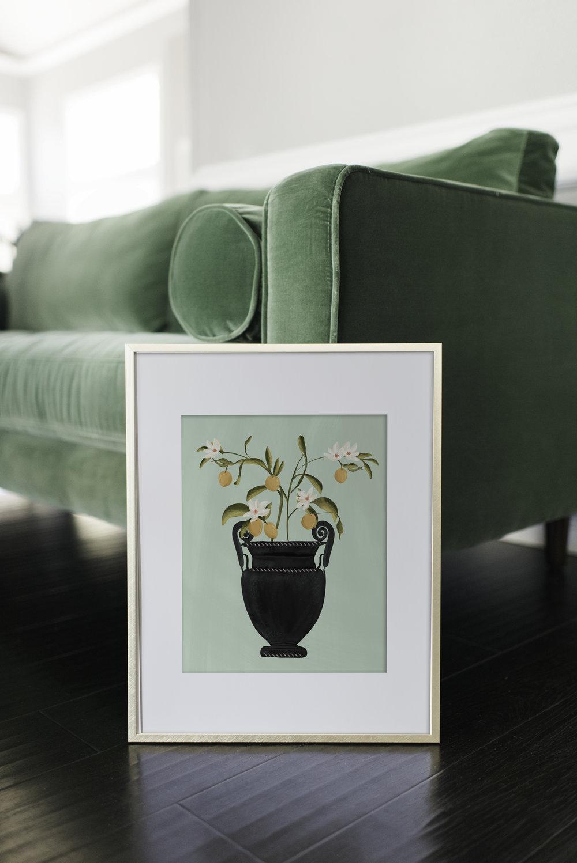 Botanical Lemons Fine Art Print