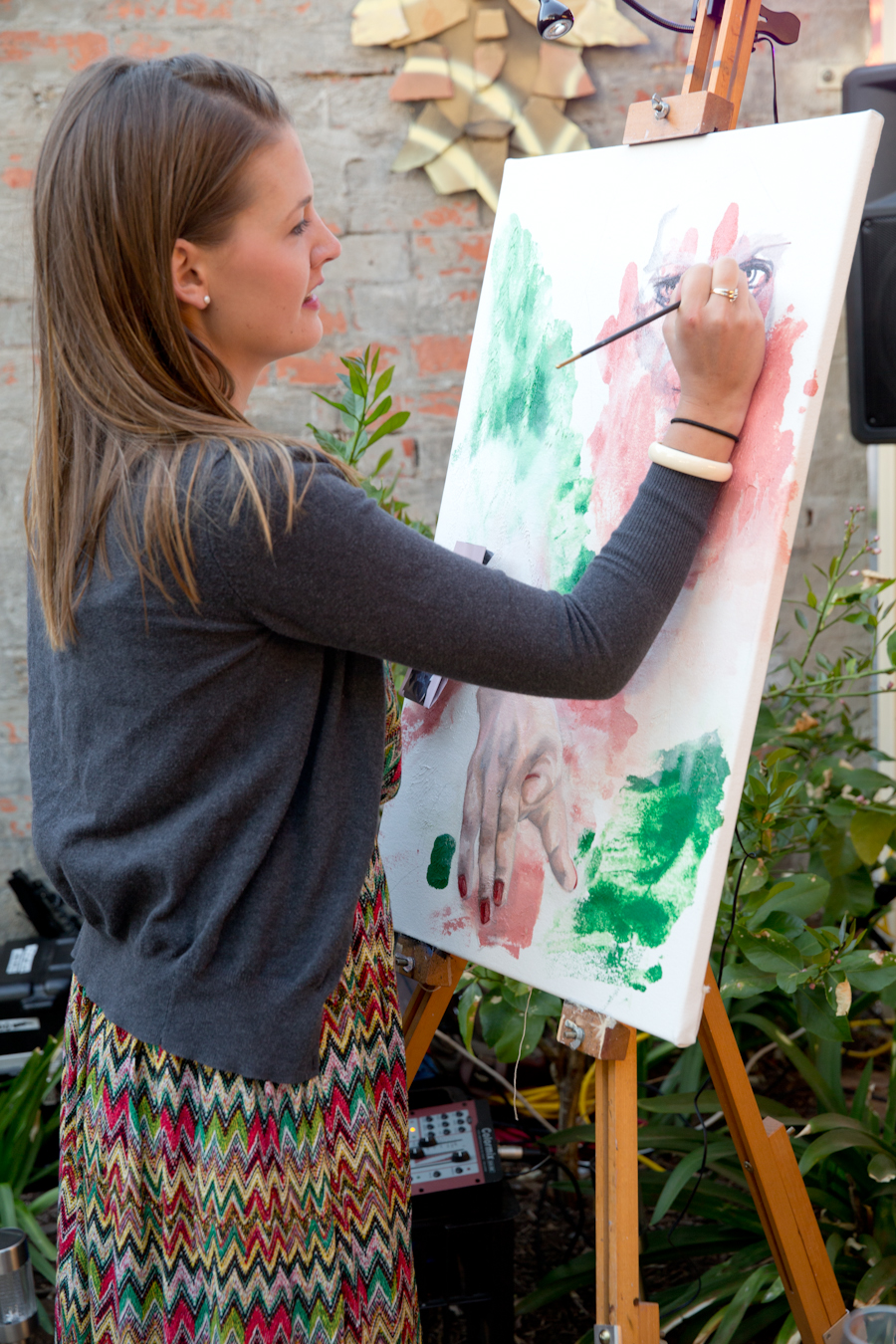 2014 Live Painting 'Life without barriers' event at Manor Estate in conjunction with the Adelaide Fringe exhibition 'Side by side'.
