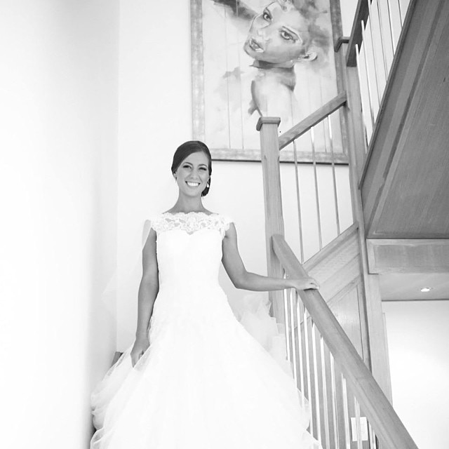 My work featured in the stairwell of these beautiful wedding photos