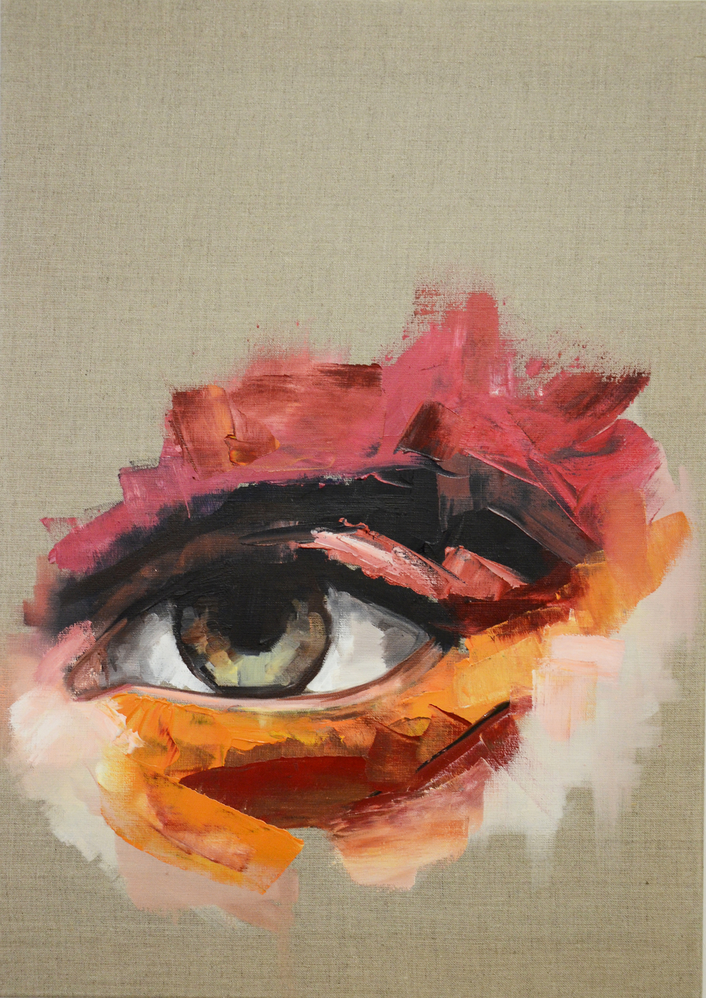 Eye Focus,  Oil on canvas, 66x50cm