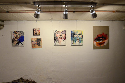 Below from Above,  The Cellar Gallery, June, 2014, Berlin