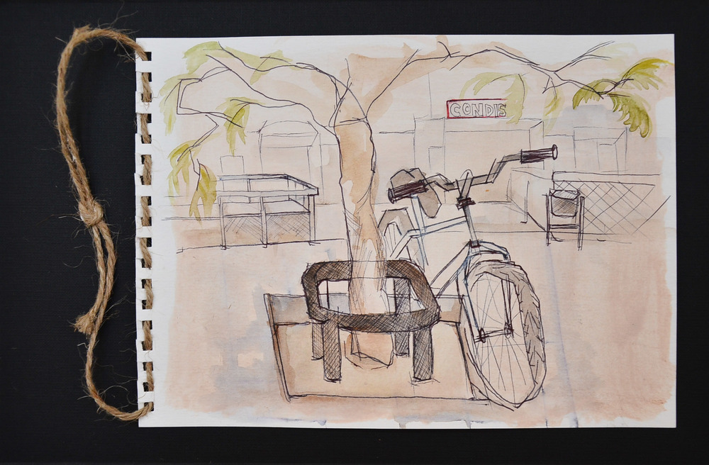 Street sketching, Barcelona, Spain