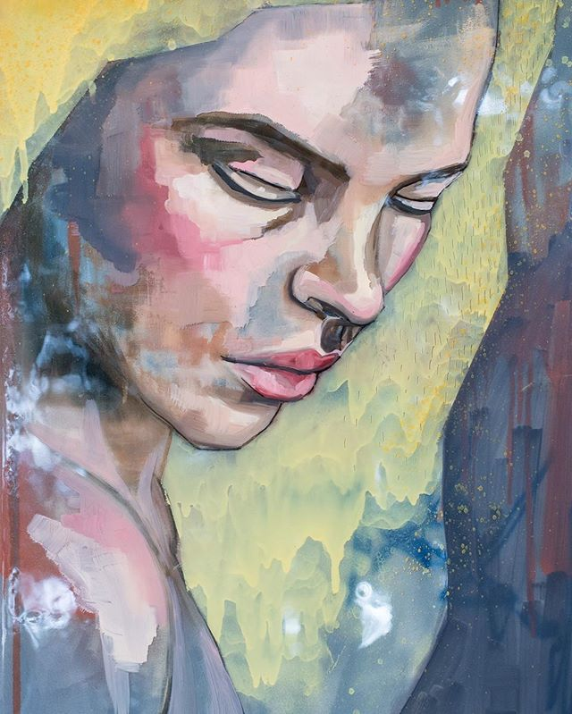 Reflection Oil, spray enamel & resin on canvas 95 x 64cm  @meaghan_coles_artist  #adelaideartist #visualartist #painter #oils #mixedmedia #paintedfaces #beauty #studio #sketchbook #model #portraiture #interiordesign #colourful #contemporary #oilpainting #gallery #artwork #mixedmediapainting #resinartwork #melbourneart #melbournegallery