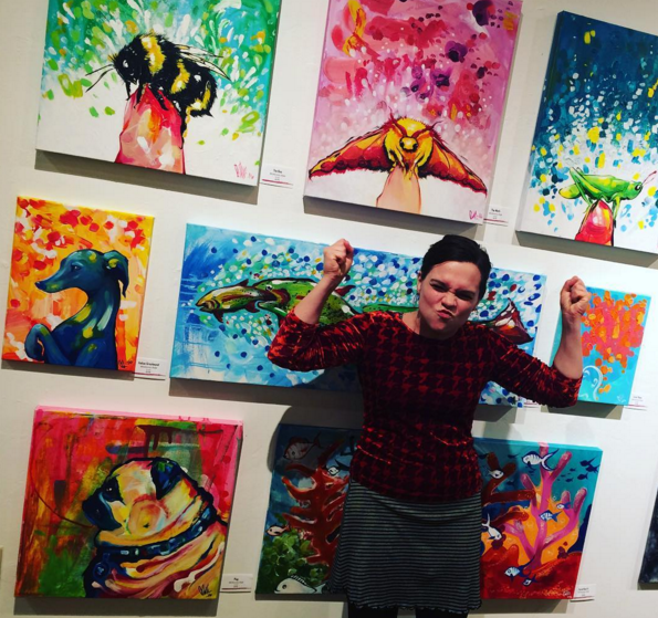 Here I am at an art show at The Art Garage in Green Bay in 2016.