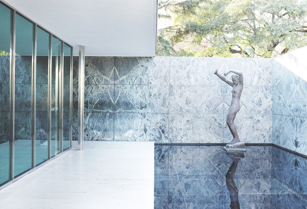 German (Barcelona) Pavilion, Barcelona - Architect, Mies van der Rohephoto: ArchDaily.com
