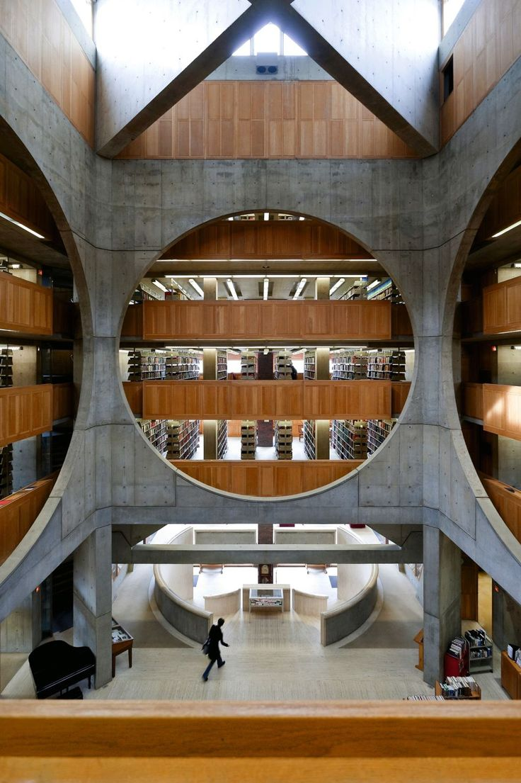 Phillips Exeter Academy Library, New Hampshire - Architect, Louis KahnThis building is AMAZING!photo: Pinterest.com