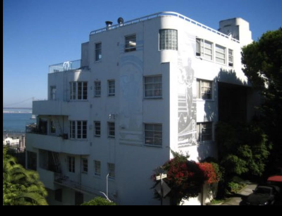 Malloch Building, Telegraph Hill, San Francisco - Best deco apartment in SF. At night, it's amazing.photo: Keith Wooten