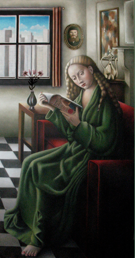 Reader   oil on canvas, h 50 w 26 inches  SOLD