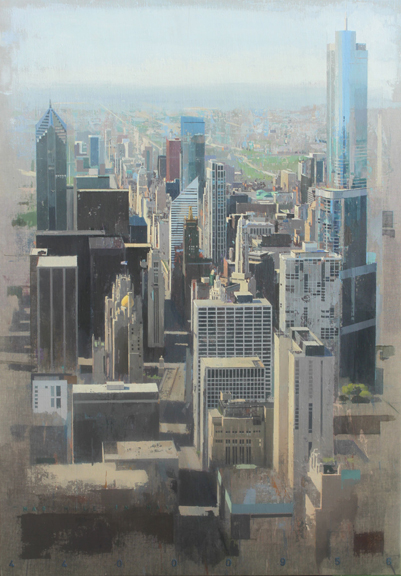 Mag Mile in May   acrylic on canvas, h 59  w 41.5 inches