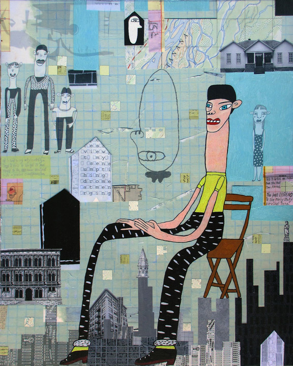 Gabe   mixed media on panel, h 30 w 24 inches