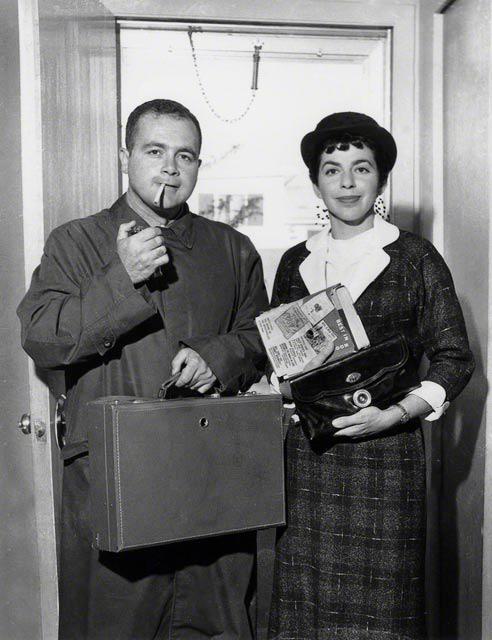 Mafia Hunt Begins, 1958   vintage silver gelatin print, h9.25 w 6.5 inches