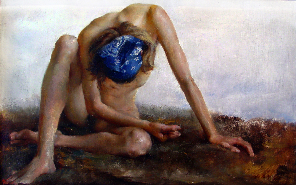 The Landscape of Bodies I   oil on canvas, h 11.5  w 16.5 inches