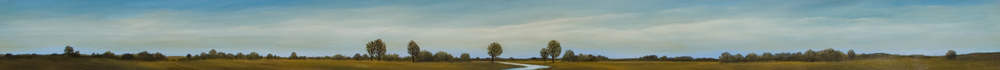 Illinois Vista   oil on panel, h 6.75  w 73.5 inches
