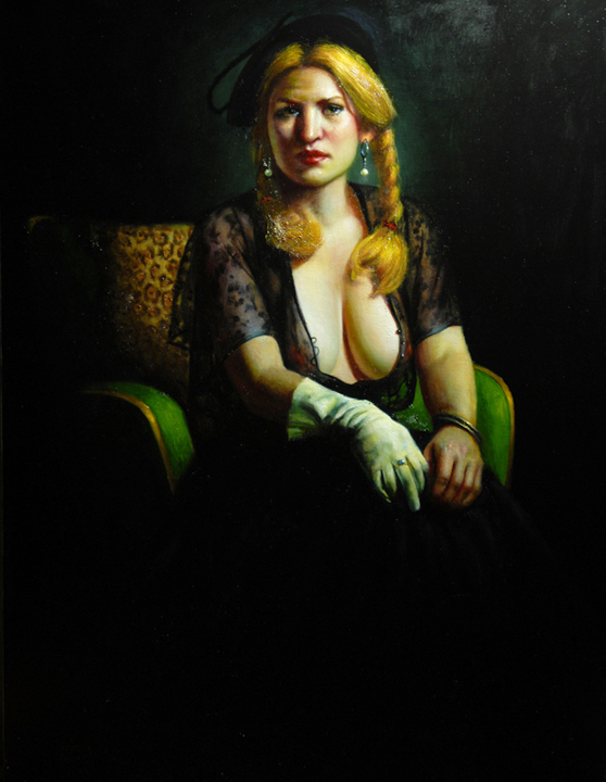 Miss Mannered   oil on linen, h 49  w 37 inches