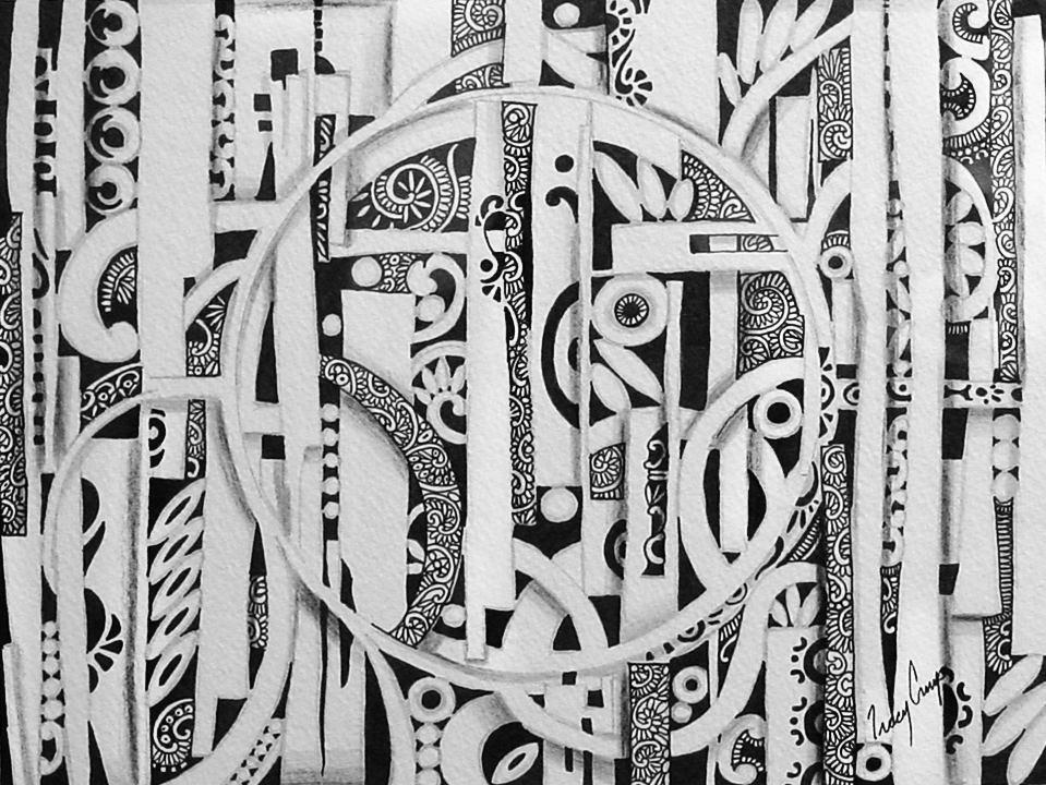 Dreams #4   ink & pencil on paper, h 9 inch  w 12 inch