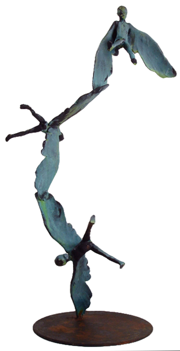 Icarumum IV   bronze, iron, h 29 w 10 d 10 inches