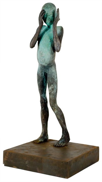 Downstair   bronze, iron, h 18 w 8 d 8 inches