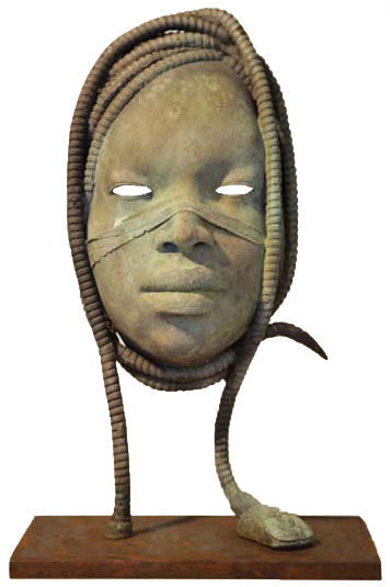 Medusa II   bronze, iron, h 16 w 9 d 5 inches