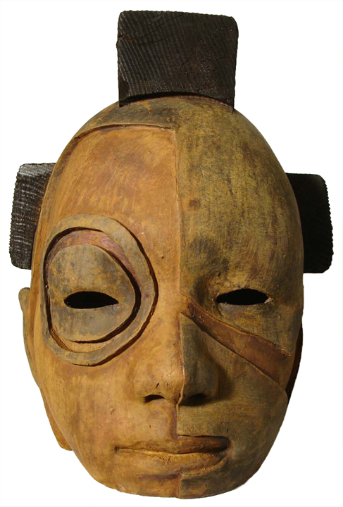 Nuba   bronze and wood, h 9.5 w 8 d 10 inches