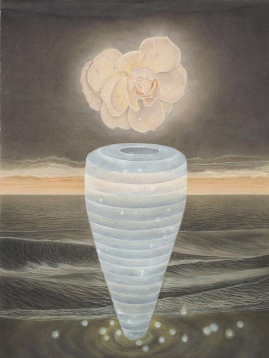 North Sea   watercolor on paper, h 29.25 w 22.25 inches