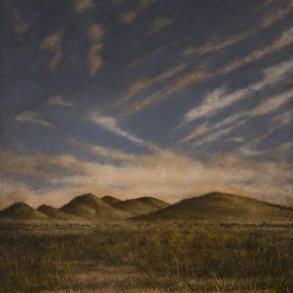 Foothills, Marfa Plateau   oil on canvas, h 20 w 20 inches
