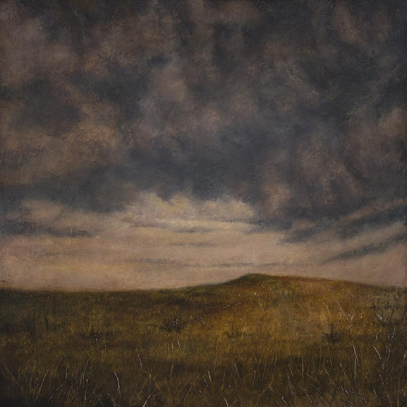 Grassland Rise   oil on canvas, h 20 w 20 inches