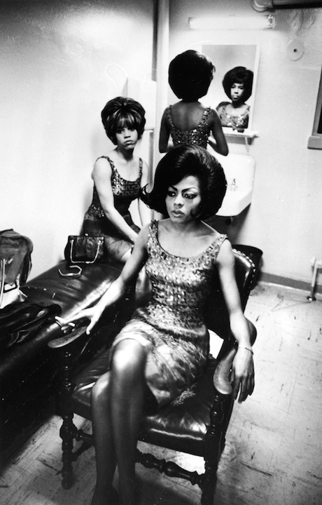 The Supremes Supremely Tired at Motown, 1965   silver gelatin print, h14 w 11 inches