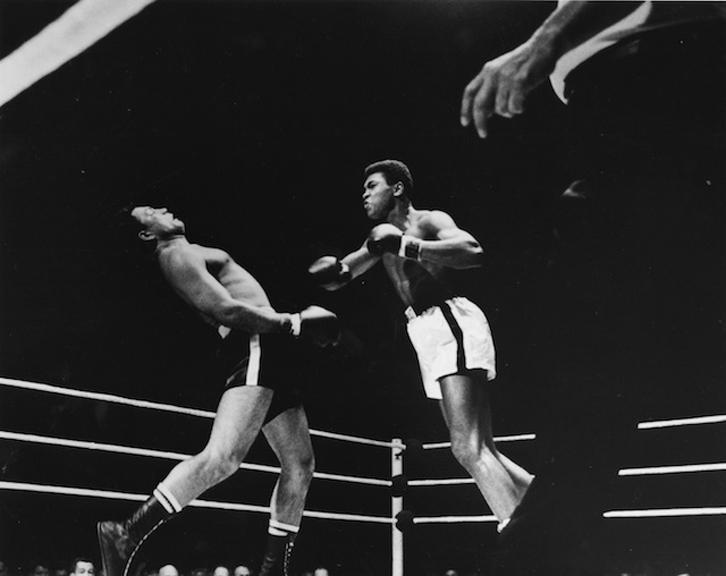 TKO Punch by Ali, 1961   silver gelatin print, h16 w 20 inches