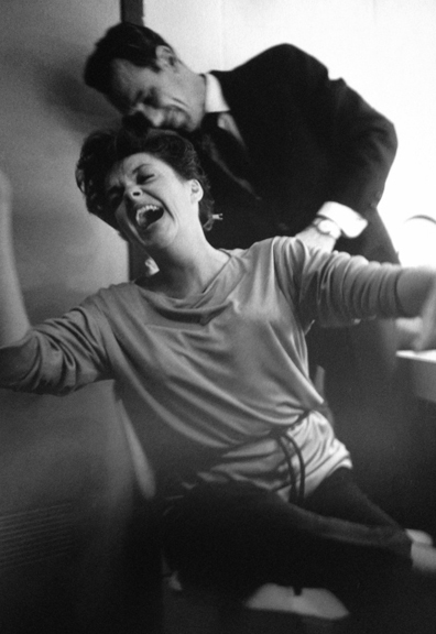 Judy Garland Before a Concert at the Arie Crown Theater, 1962   silver gelatin print, h14 w 11 inches