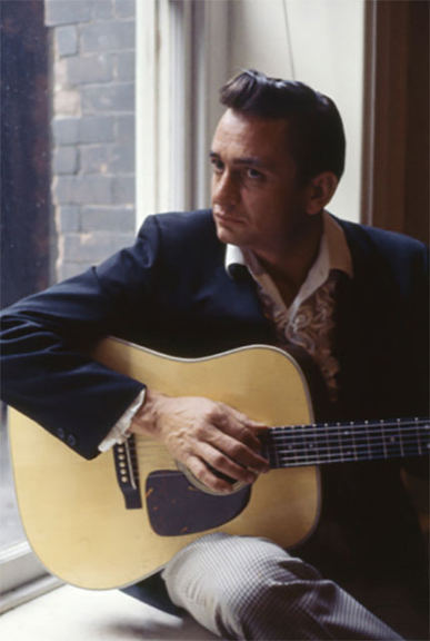 Thirty Seconds with Johnny Cash, Nashville, Tennessee, 1961   archival pigment print, h22 w 17 inches