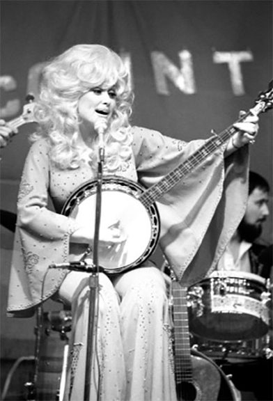 Dolly Immortalized, 1976   silver gelatin print, h14 w 11 inches
