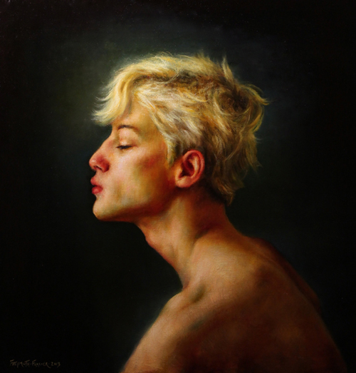 Golden Boy   oil on linen, h 30 x w 28.5