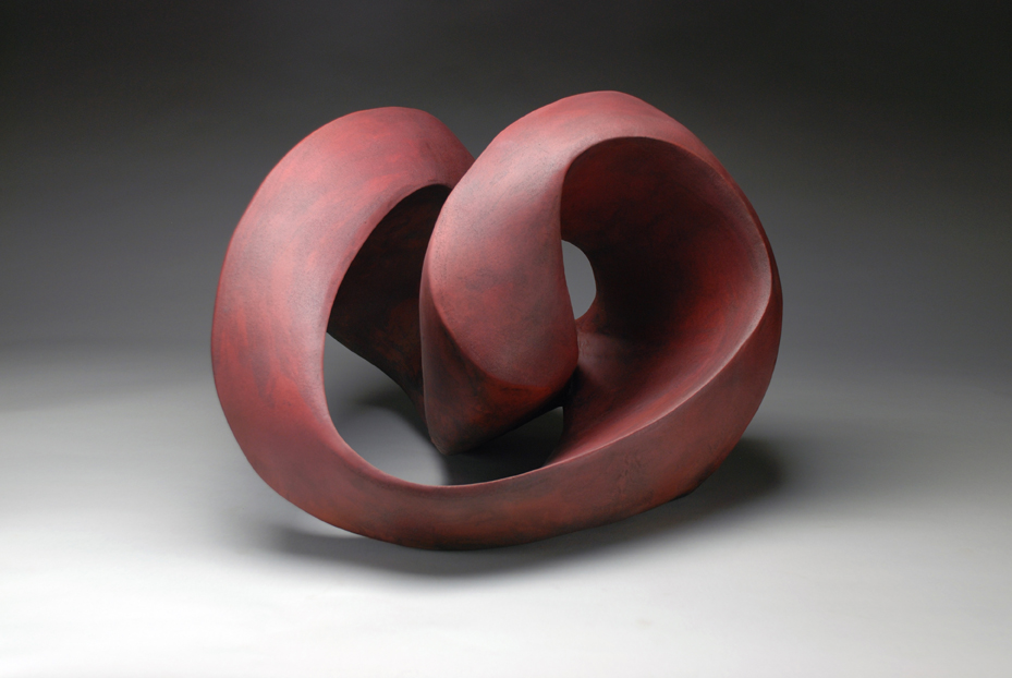 Perpetual    handbuilt earthenware, hollow construction, glazed and sandblasted,h 11.5 w 19 d 22