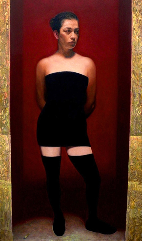 Martha   oil on linen, h 78 w 42 inches