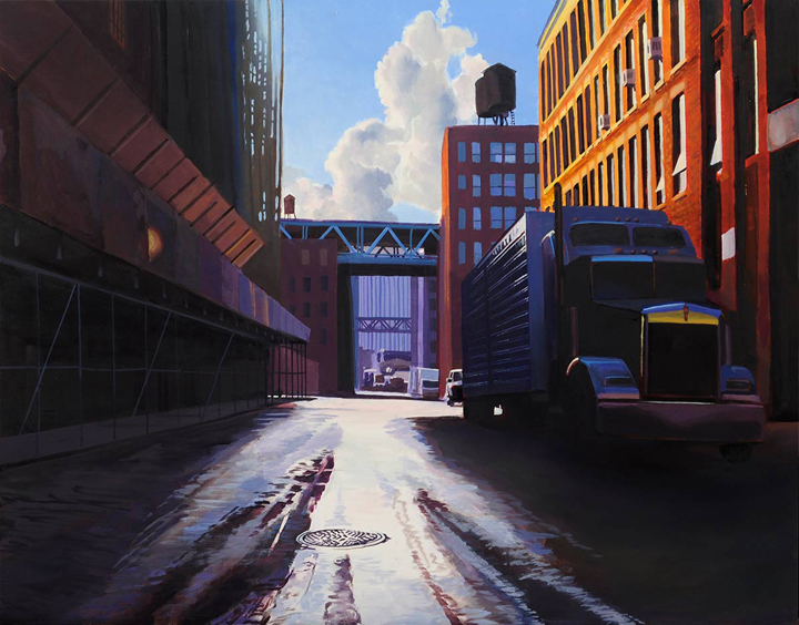 Front Street   oil on panelh 19w 24 inches SOLD