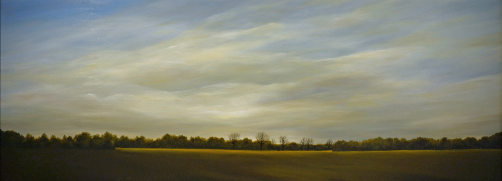 October Afternoon   oil on panel  h 32  w 81 inches